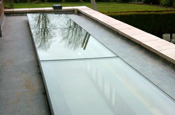 Residential walk on rooflight